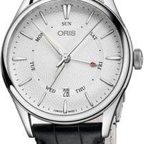 Oris Artelier Pointer Day Date Acier 40mm Argent