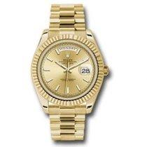 Rolex Day-Date 40 Oro amarillo 40mm Champán