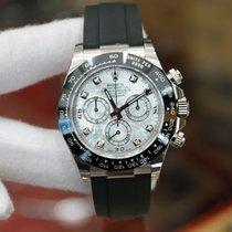 Rolex Cosmograph Daytona White Gold MOP Diamond Dial 40mm