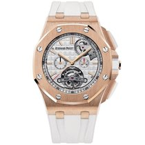 Audemars Piguet Royal Oak Offshore Tourbillon Chronograph Roségold 44mm Silber Keine Ziffern