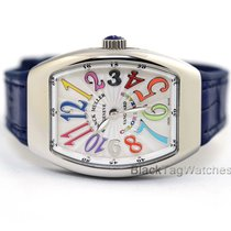 Franck Muller Steel Quartz White Roman numerals 32mm new