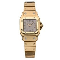 Cartier Santos (submodel) pre-owned 24mm Grey Yellow gold