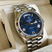 Rolex Day-Date 40 Witgoud 40mm Blauw Romeins Nederland, Den haag