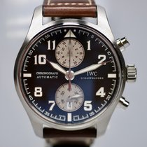 IWC Pilot Spitfire Chronograph Staal 43mm Zwart Arabisch