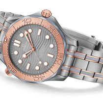 Omega Titanium Automatic Grey 42mm new Seamaster Diver 300 M