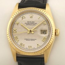 Rolex Datejust 16238 Pyramide Jahrgangsuhr Muy bueno Oro amarillo 36mm Automático