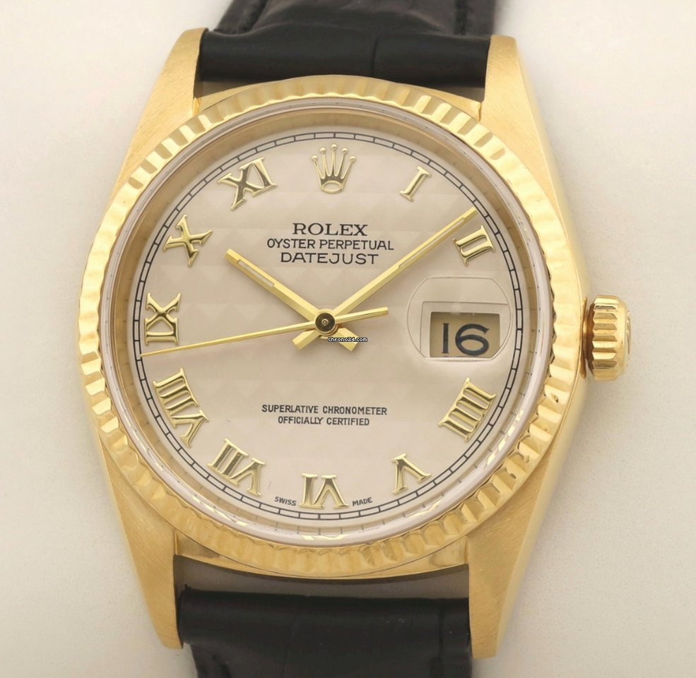 Rolex Datejust 16238 Pyramide Jahrgangsuhr 1989 подержанные