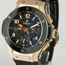 Hublot Red gold Automatic Black 44mm pre-owned Big Bang 44 mm