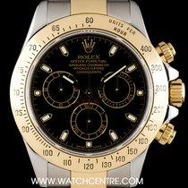 Rolex Steel & Gold Black Dial Cosmograph Daytona 116523