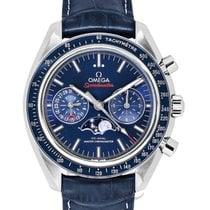 Omega Speedmaster Moonwatch Moonphase Chronograph Blue...