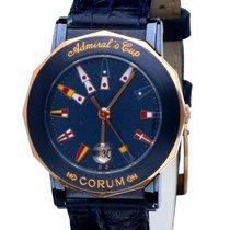 Corum Admirals Cup Gold Ceramic Blue Dial 28 mm