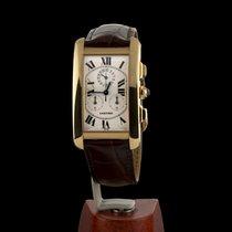 Cartier Tank AméricaineYellow Gold Chronoreflex