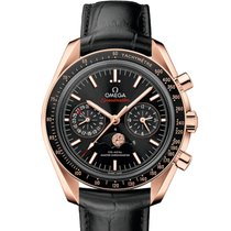 Omega Oro rosado Automático Negro 44.25mm nuevo Speedmaster Professional Moonwatch Moonphase