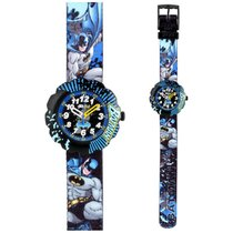Flik Flak Fall News Batman Black Dial Textile Strap Boys Watch...