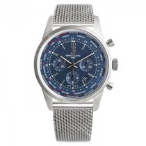 Breitling Transocean Unitime Pilot Steel 46mm Blue No numerals United States of America, New York, New York