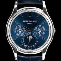 Patek Philippe Perpetual Calendar Platina 37.2mm Blå