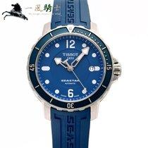 티쏘 42mm 자동 중고시계 Seastar 1000 파란색