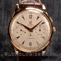 Cyma Chronograph 37.5mm Handaufzug 1950 gebraucht Silber