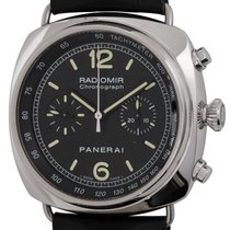 Panerai Radiomir Chronograph pre-owned 45mm Black Chronograph Crocodile skin