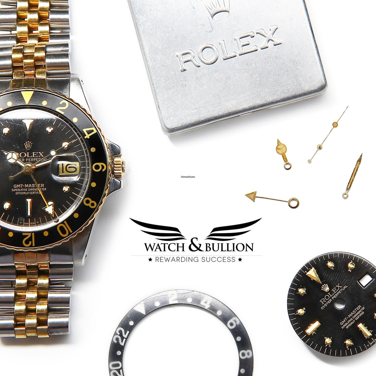 4fec4b1bd Rolex GMT-Master 16753 Jubilee Two-Tone Black Nipple Dial for ...
