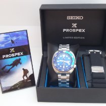 Seiko new Automatic Center Seconds Luminescent Numerals Luminescent Hands Rotating Bezel Screw-Down Crown Quick Set Luminous indexes 45mm Steel Mineral Glass