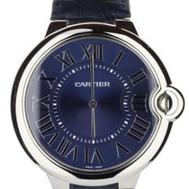 Cartier Platinum Automatic Blue 46mm pre-owned Ballon Bleu 44mm