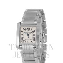 Cartier Tank Française Steel 28mm Champagne Roman numerals United States of America, New York, Hartsdale