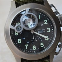 Hamilton Khaki Navy Frogman pre-owned 43mm Black Date