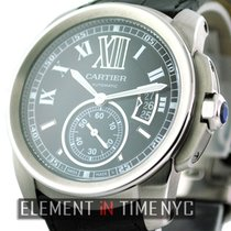 Cartier Calibre de Cartier Steel 42mm Black Roman numerals United States of America, New York, New York