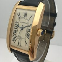 Cartier Tank Americaine Automatic 18K Rose gold Mens Watch