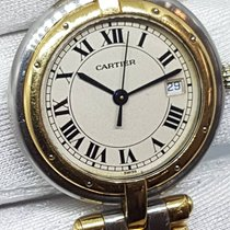 Cartier Panthere Vendome Mid Size Date 30mm 3 Row Watch Gold