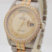 Rolex Day-Date Tridor Brillant-Kranz, Perlmutt Zifferblatt 1991