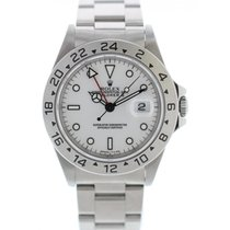 Rolex Explorer II 16570 Stainless Steel Tritium White Dial