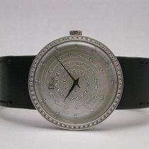 Dior Cd042112a001 121 Diamond Bezel & Dial Quartz 33mm Mop Ss...