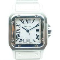 Cartier Santos Galbée pre-owned 35mm Steel