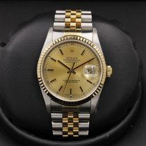 Rolex Datejust 16233 Stainless Steel / Yellow Gold