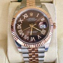 Rolex Datejust II Two-Tone Rose & White Diamond Roman Numeral