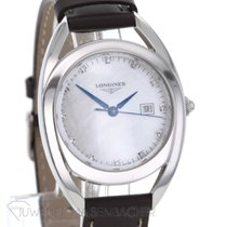 Longines Equestrian pre-owned 30mm Mother of pearl Leather