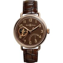 Bell & Ross Red gold Manual winding Brown 42mm new Vintage