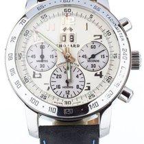 Chopard Mille Miglia pre-owned 40.5mm White Chronograph Date Crocodile skin
