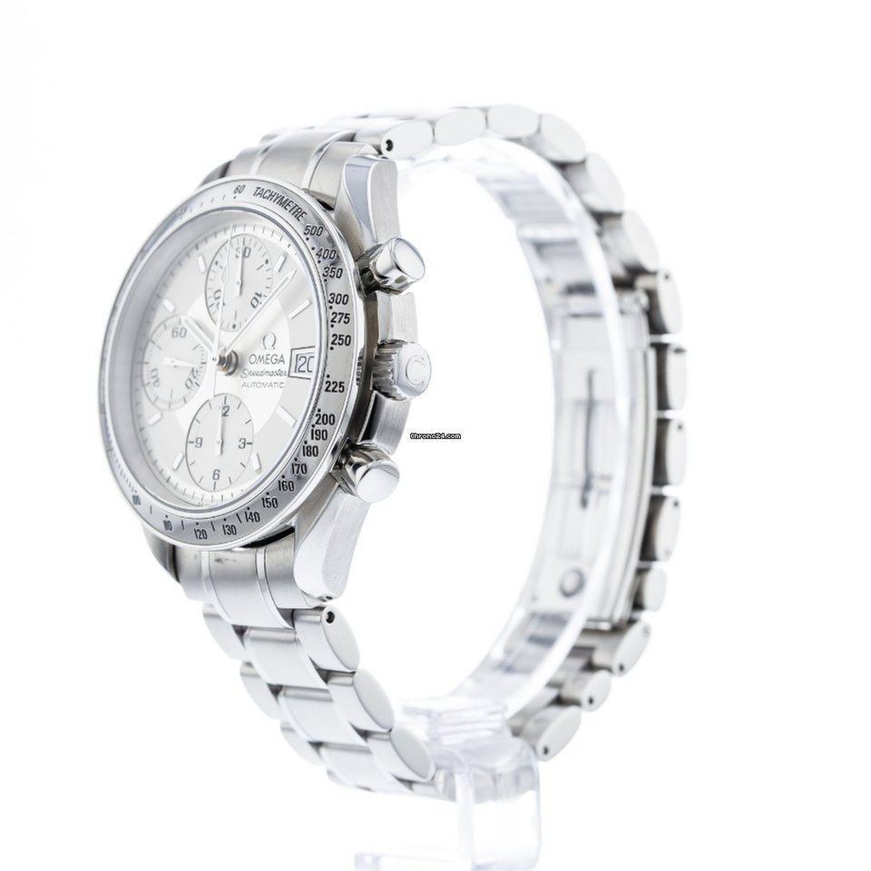 Speedmaster Stainless 3513 30 Date 00 Bezel With Bracelet And Omega Watch Steel wXPkn0O8