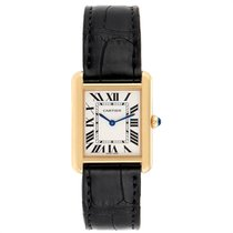 Cartier Tank Solo pre-owned 30mm Silver Leather