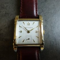 Wittnauer Yellow gold Manual winding White Arabic numerals 36mm pre-owned
