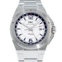 IWC Ingenieur Dual Time Stahl 43mm Silber