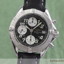 Breitling Colt Chronograph Automatic gebraucht 41.5mm Schwarz Chronograph Datum Rindsleder