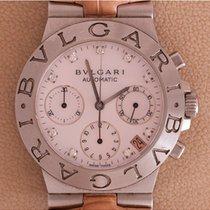Bulgari Diagono Chronograph MOP diamonds Dial