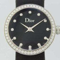 Dior La D Quartz Steel Lady Bezel Diamonds CD043114-J (New)