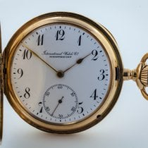IWC Schaffhausen, Rare 14K Yellow Gold Pocket Watch, Circa 1905
