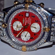 Breitling Chronomat Crosswind Chronograph 18K Gold Diamonds