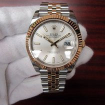 Rolex Two-Tone Datejust 41 Silver Index Dial Jubilee Bracelet